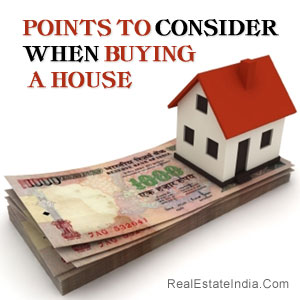 Points To Consider When Buying A House