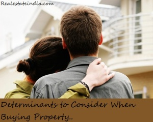 Determinants to Consider When Buying Property